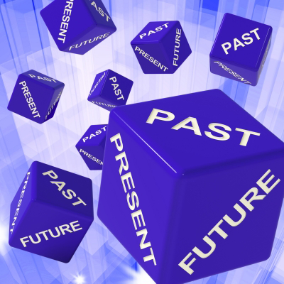"""Past, Present, Future Dice Showing Forecasts"" by Stuart Miles"